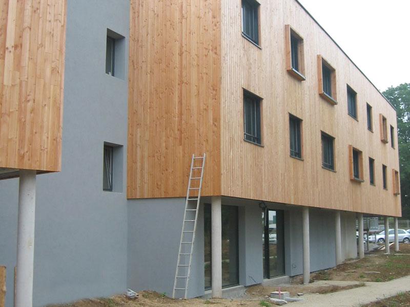 travaux d 39 enduits de fa ade pour r novation d 39 immeuble carhaix finist re. Black Bedroom Furniture Sets. Home Design Ideas