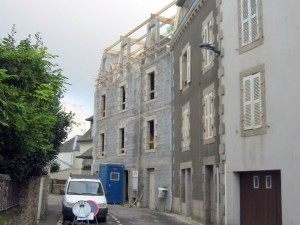 maconnerie d'immeuble à concarneau