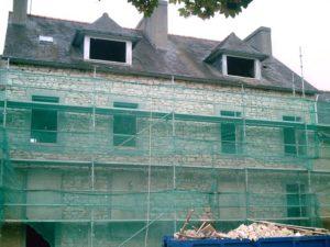rénovation d'enduit à Fouesnant